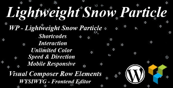 WP - Lightweight Snow Particle - CodeCanyon Item for Sale