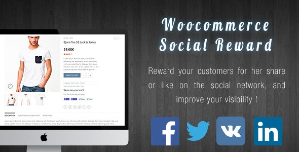 Woocommerce Social Reward / Coupon - CodeCanyon Item for Sale