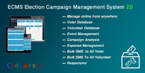 ECMS - Election Campaign Management System - CodeCanyon Item for Sale
