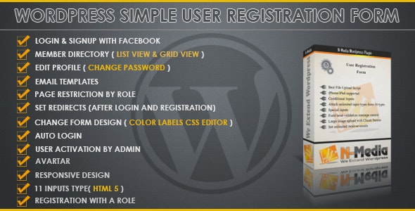 Wordpress Registration Form - CodeCanyon Item for Sale