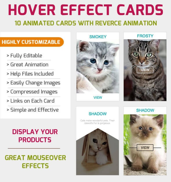 Hover Effects - Animated Cards - CodeCanyon Item for Sale