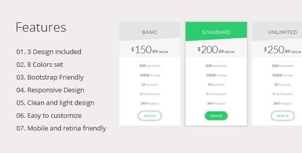 Generic Pricing Table - CodeCanyon Item for Sale