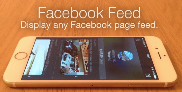 Facebook Feed - show any Facebook Page Feed - iOS - CodeCanyon Item for Sale