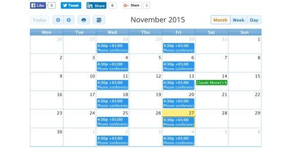 CalendARI - Joomla! events manager