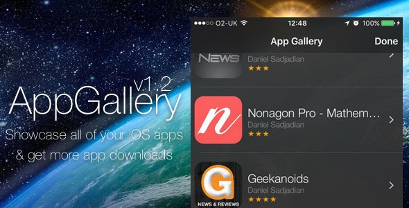 AppGallery - Showcase your iOS Apps - CodeCanyon Item for Sale