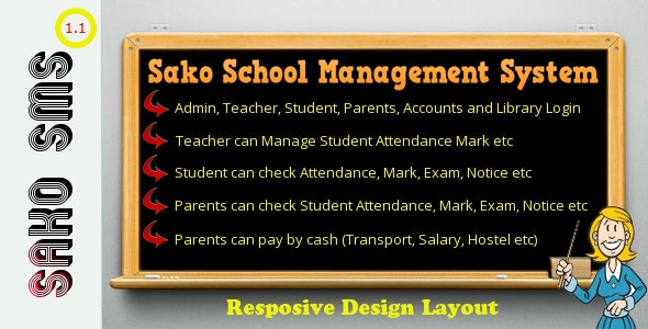 Responsive Sako School Management System - CodeCanyon Item for Sale