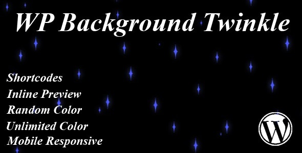 WP Background Twinkle - CodeCanyon Item for Sale