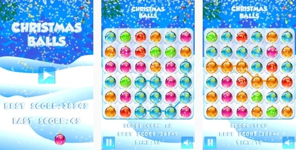 Christmas Balls - HTML5 Game + Mobile + AdMob (Construct 3 | Construct 2 | Capx)