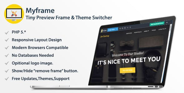 Myframe - Tiny Live Preview Frame & Theme Switcher