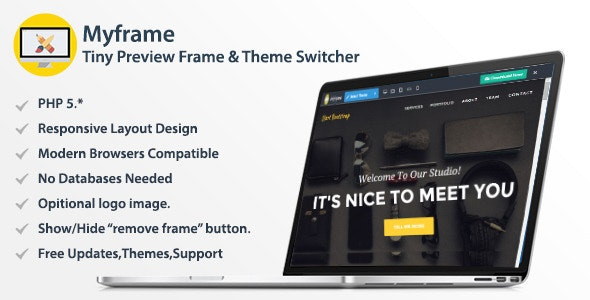 Myframe - Tiny Live Preview Frame & Theme Switcher - CodeCanyon Item for Sale