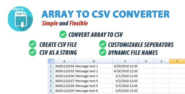 Array To CSV Converter Class - CodeCanyon Item for Sale