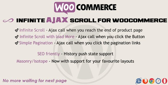Infinite Ajax Scroll Woocommerce
