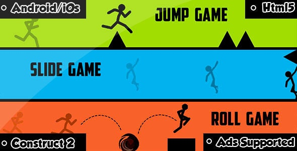 Fall Jump Roll - HTML5 Game (CAPX) - CodeCanyon Item for Sale