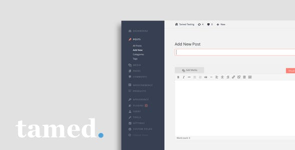 Tamed WordPress Admin Theme