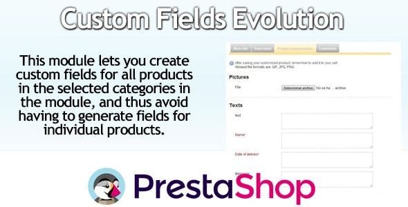 Massive PrestaShop Custom Fields