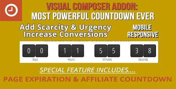Ultimate Addon for WPBakery Page Builder: Scarcity Countdown