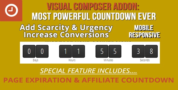 Ultimate Addon for WPBakery Page Builder: Scarcity Countdown - CodeCanyon Item for Sale