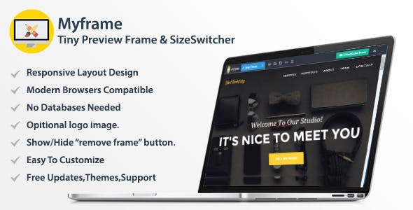 Myframe - Tiny Live Preview Frame & Size Switcher