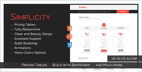 Simplicity - Simple & Original Pricing Tables