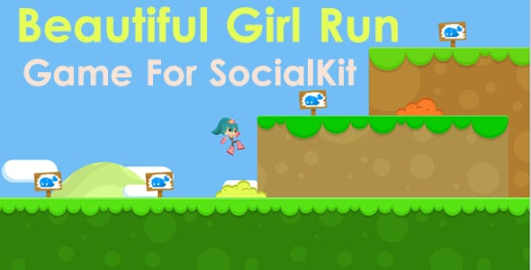 Beautiful Girl Run Game For SocialKit