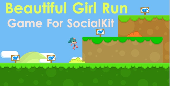 Beautiful Girl Run Game For SocialKit - CodeCanyon Item for Sale
