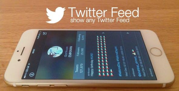 Twitter Feed - show any Twitter Feed - iOS