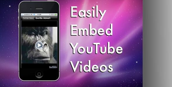 Embed YouTube Videos (xcode) - CodeCanyon Item for Sale