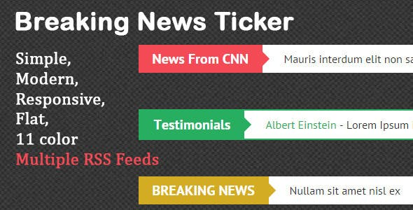 Breaking News Ticker