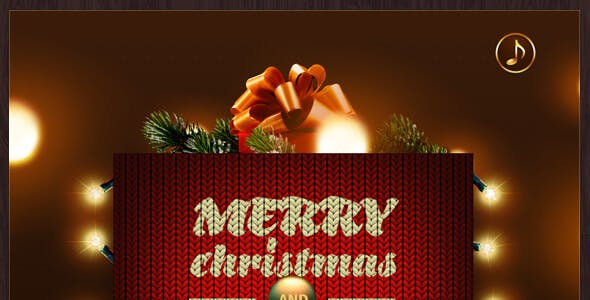 Merry Christmas & Happy New Year Card.