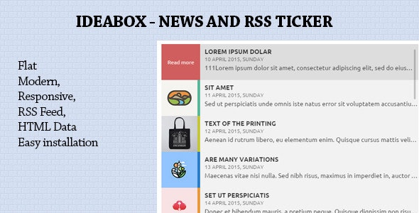 Ideabox - News & RSS Ticker - CodeCanyon Item for Sale