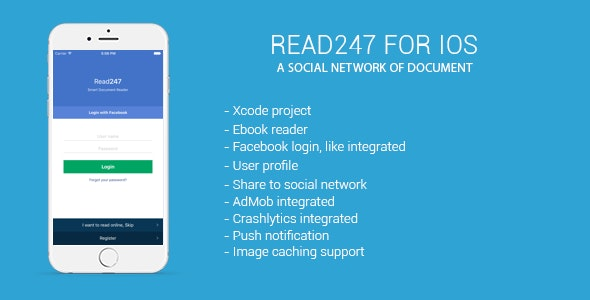 Read247 - social network of document (ios) - CodeCanyon Item for Sale