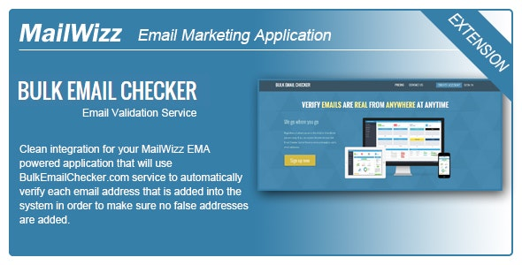 MailWizz EMA integration with BulkEmailChecker.com - CodeCanyon Item for Sale