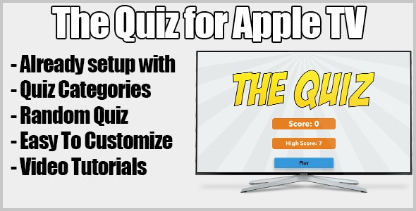 My Quiz Game For Apple Tv - CodeCanyon Item for Sale