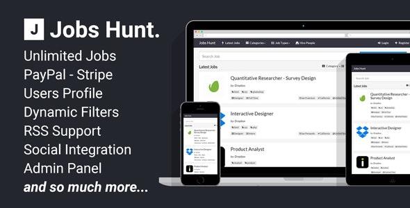 Jobs Hunt - The Job Portal - CodeCanyon Item for Sale