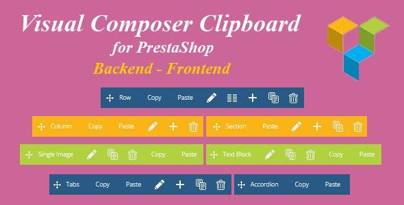 Visual Composer Clipboard for Prestashop - CodeCanyon Item for Sale
