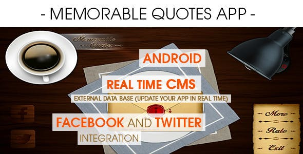 Memorable Quotes App With CMS - Android [ 2020 Edition ]