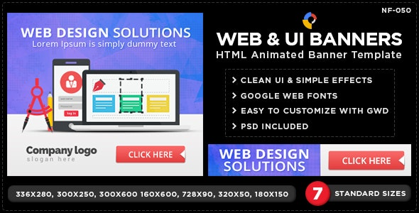 HTML5 Design & Agency Banners - GWD - 7 Sizes - CodeCanyon Item for Sale