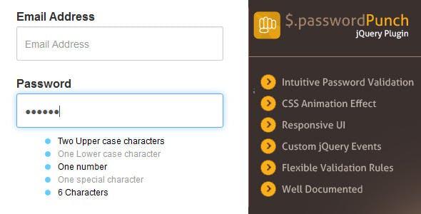 jQuery Smart Password Validator