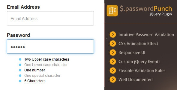 jQuery Smart Password Validator - CodeCanyon Item for Sale