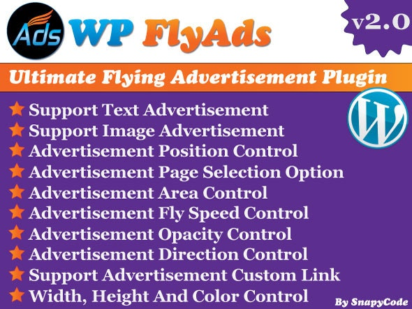 WP FlyAds & Christmas Snow Falling Effects plugin - CodeCanyon Item for Sale