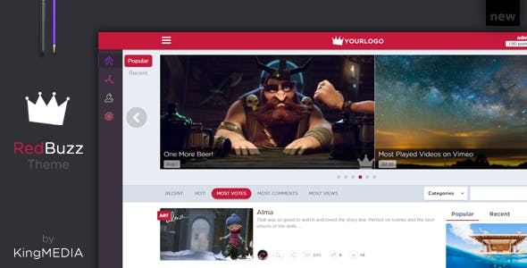 King MEDIA - RedBuzz Theme