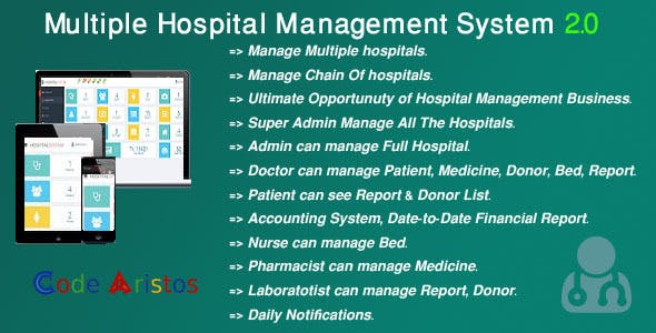 Multi Hospital - Hospital Management System (Saas App)
