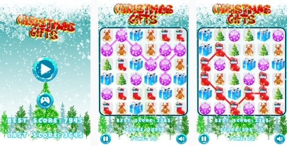 Christmas Gifts - HTML5 Game Android+AdMob (Construct 3 | Construct 2 | Capx) - CodeCanyon Item for Sale