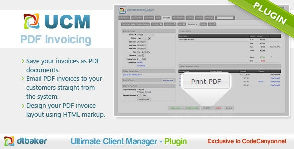 PDF Invoicing - CodeCanyon Item for Sale