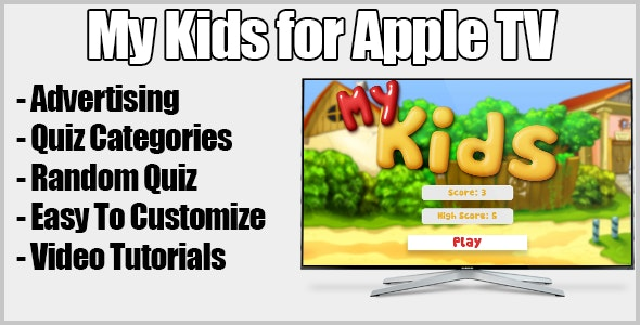 My Kids Quiz Apple Tv Game With Monetize - CodeCanyon Item for Sale