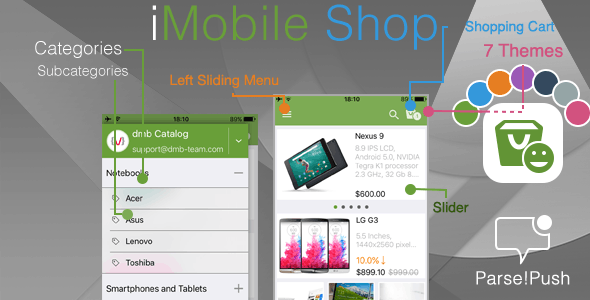 iOS Mobile Shop with Push Notifications - CodeCanyon Item for Sale