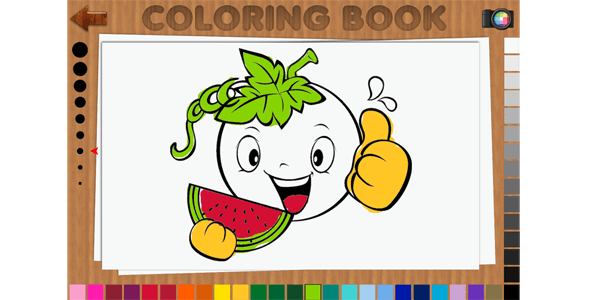 Coloring Book 48 Pages - HTML5 Educational Game