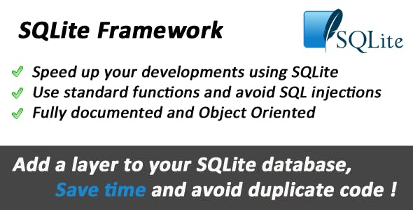 SQLite Object Oriented Framework