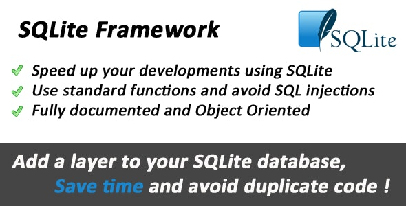 SQLite Object Oriented Framework - CodeCanyon Item for Sale