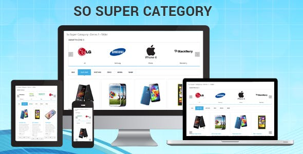 So Super Category - Responsive OpenCart 3 & 2.x Module